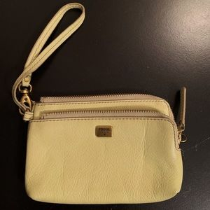 Lime Green Fossil Wristlet